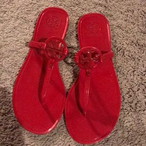 Tory Burch size 8 Red jelly sandals